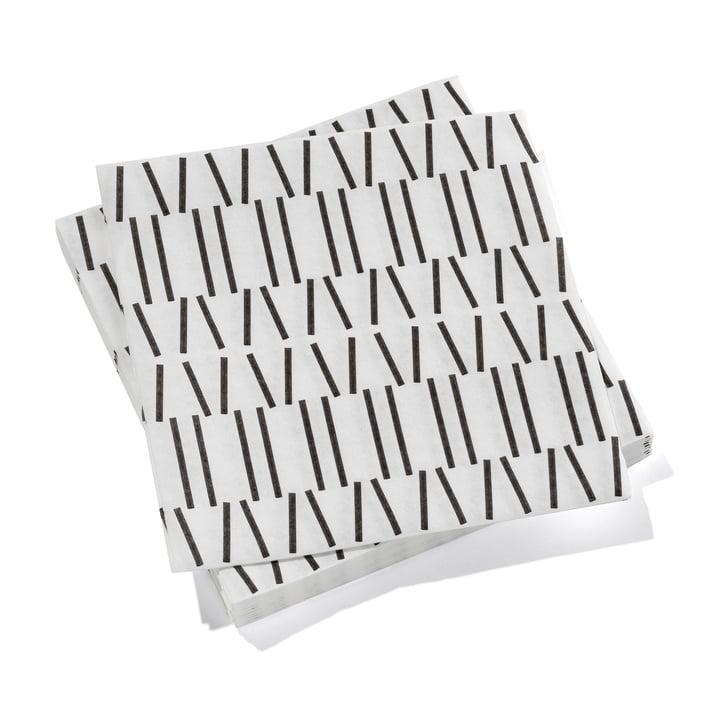 Paper Napkins large Broken Lines von Vitra in schwarz