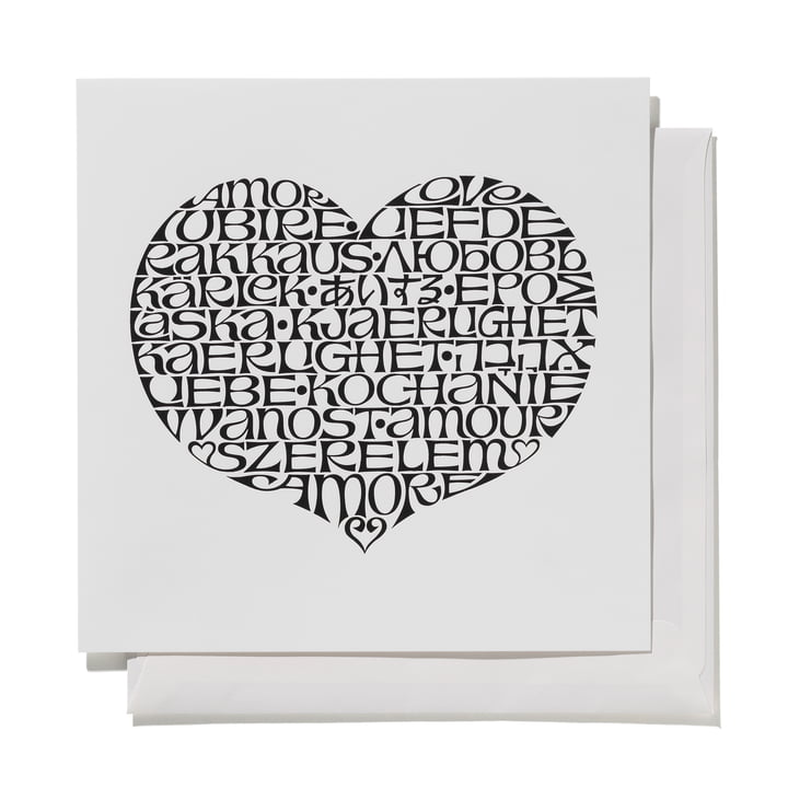 Greeting Card International Love Heart von Vitra