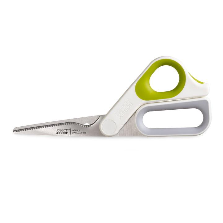 Powergrip Küchenschere von Joseph Joseph in weiß / grün