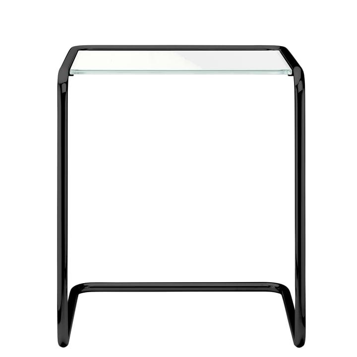 B 97 a Beistelltisch, 34,5 x 41,5 cm, Gestell tiefschwarz RAL 9005 / Glas (All Seasons) von Thonet