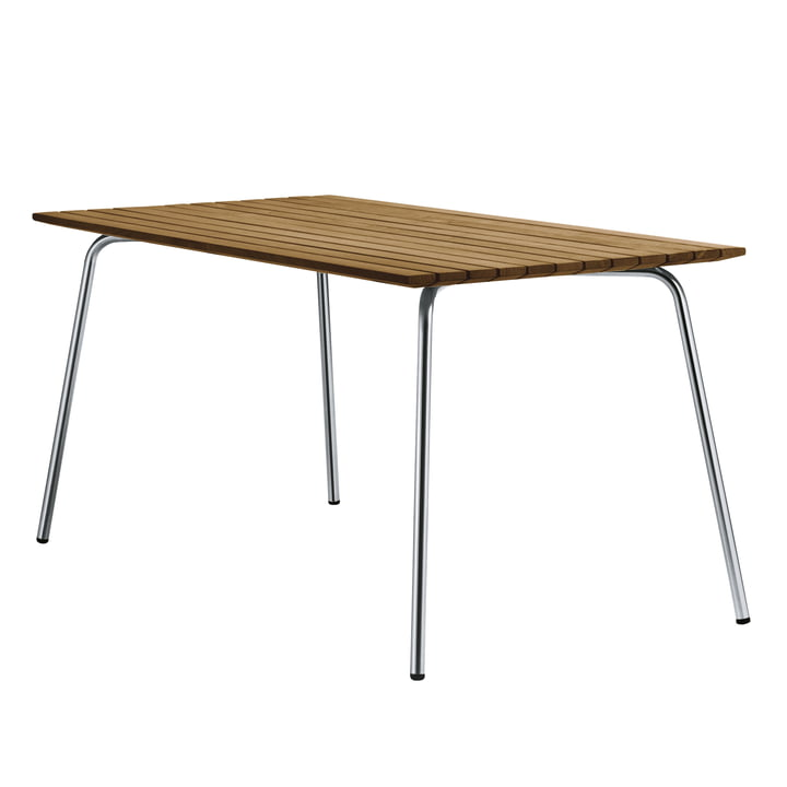 S 1040 Gartentisch, 150 x 78 cm, Gestell Edelstahlrundrohr / Tischplatte Iroko von Thonet