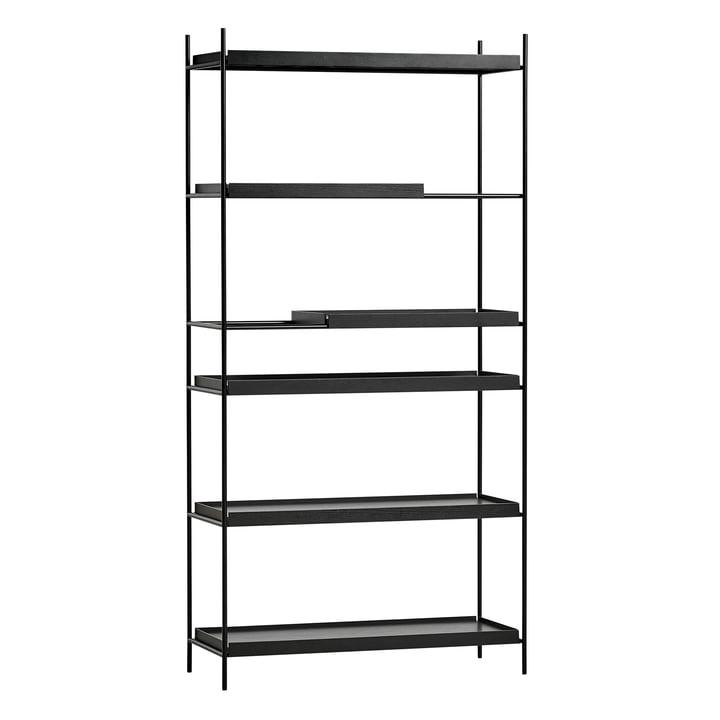 Tray Shelf hoch von Woud in Eiche schwarz lackiert / schwarz