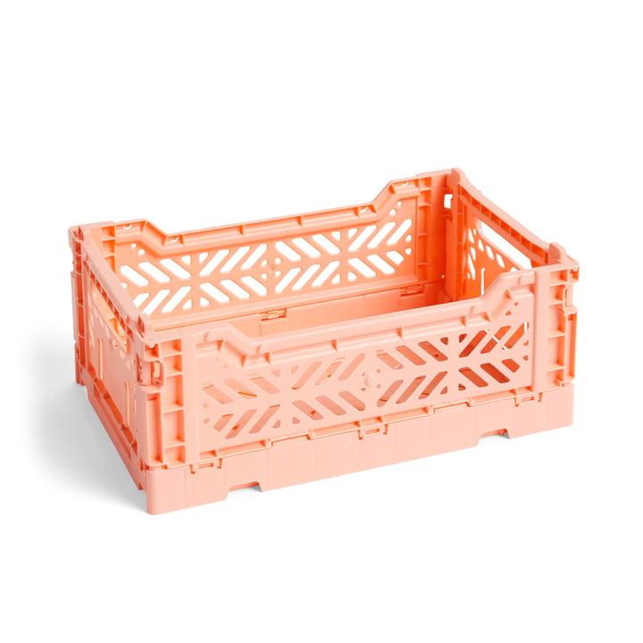 Colour Crate Korb S, 26,5 x 17 cm von Hay in lachsfarben