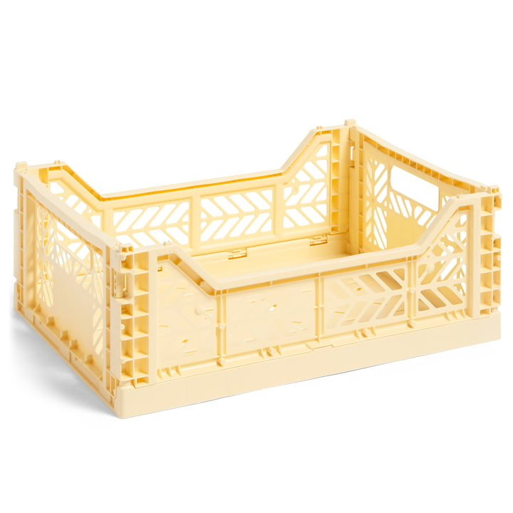 Colour Crate Korb M, 40 x 30 cm von Hay in hellgelb