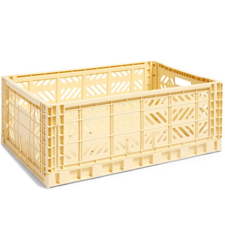 Colour Crate Korb L, 60 x 40 cm von Hay in hellgelb