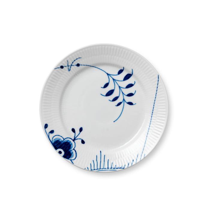 Mega Blau Gerippt Frühstücksteller flach Ø 19 cm von Royal Copenhagen mit Dekor Nr. 2