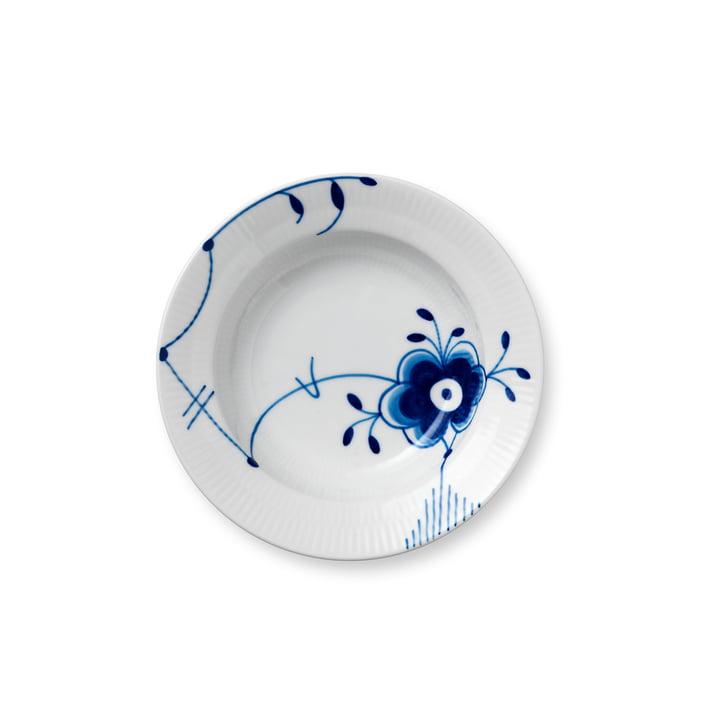 Mega Blau Gerippt Teller tief Ø 17 cm von Royal Copenhagen mit Dekor Nr. 6