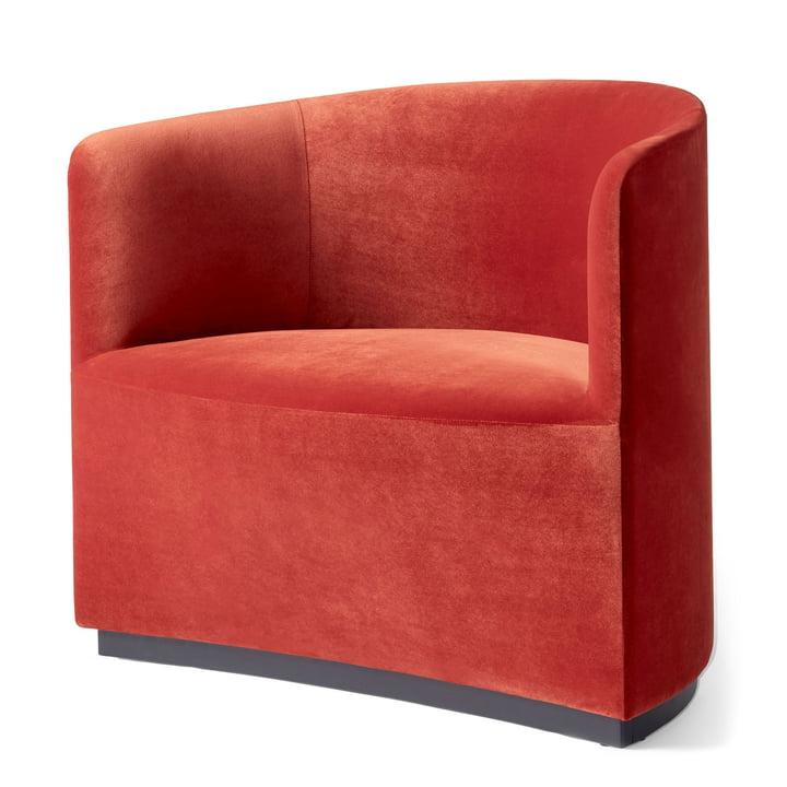Tearoom Club Chair in Samt rot (City Velvet CA7832/062) von Menu