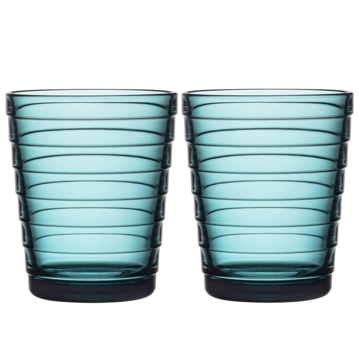 Aino Aalto Glasbecher 22 cl von Iittala in seeblau (2er-Set)