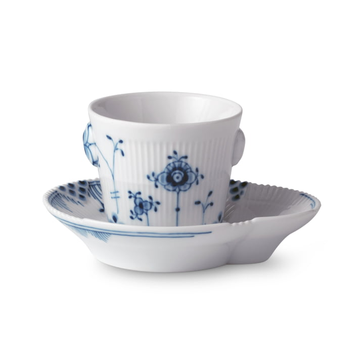 Elements Blau Espressotasse mit Untertasse 9 cl von Royal Copenhagen
