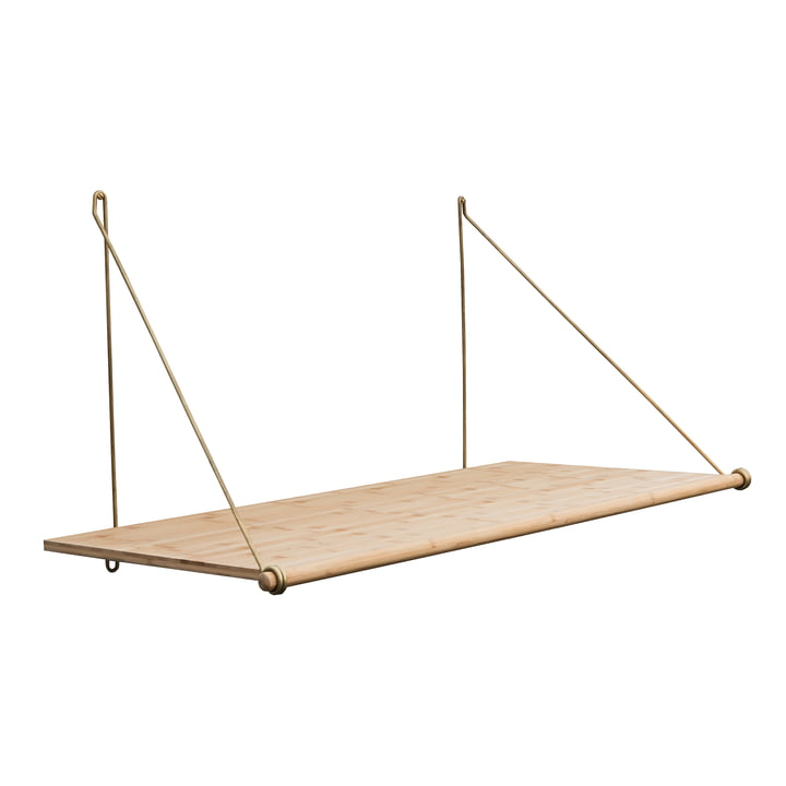 Loop Desk von We Do Wood aus Bambus / Messing