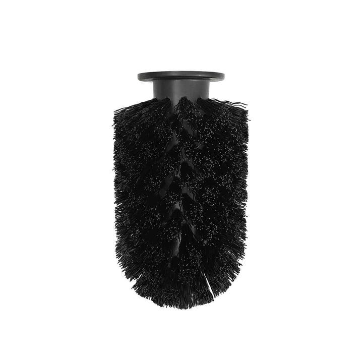Ersatz-Bürstenkopf für Ballo Toilettenbürste von Normann Copenhagen in schwarz