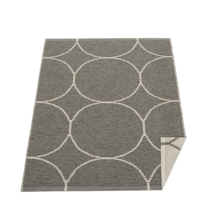 BooWendeteppich, 70 x 100 cm in charcoal / linen von Pappelina