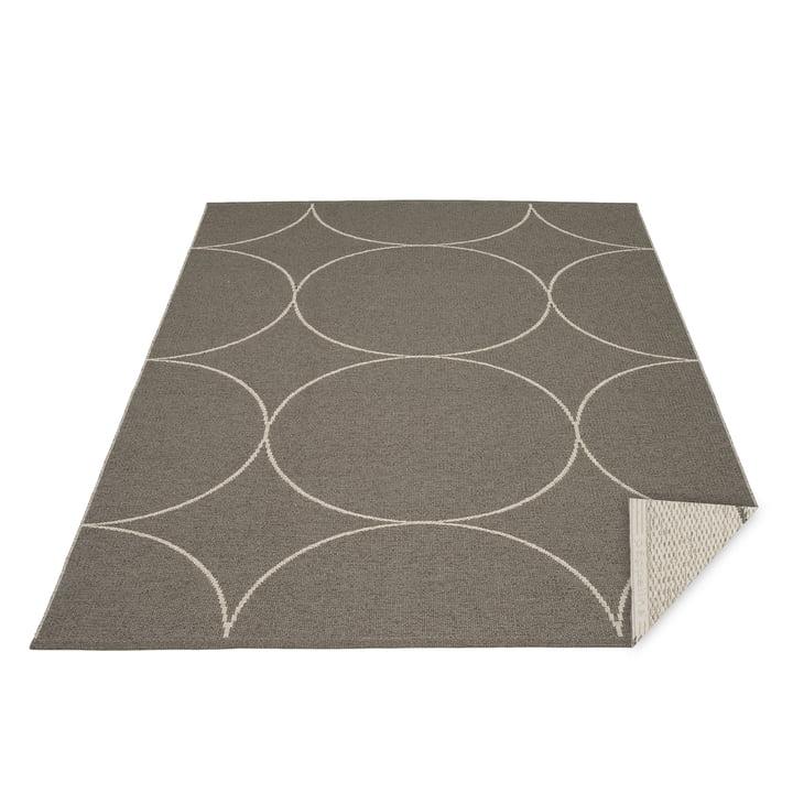 BooWendeteppich, 180 x 275 cm in charcoal / linen von Pappelina