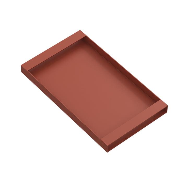 Torei Serviertablett 320 × 185 × 25 mm von New Tendency in sienna