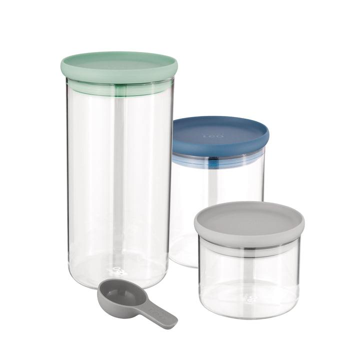 Leo Lebensmittelbehälter-Set aus Glas (inkl. Messlöffel) von Berghoff