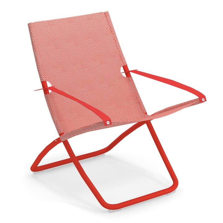 Snooze Liegestuhl von Emu in scharlachrot / rot
