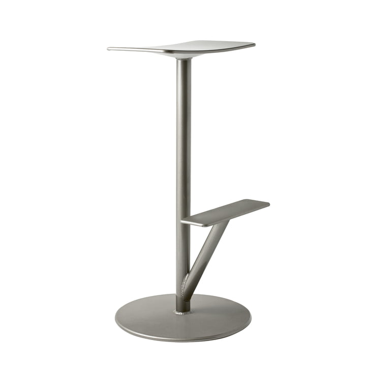 Sequoia Barhocker H 66 cm in grau metallic von Magis