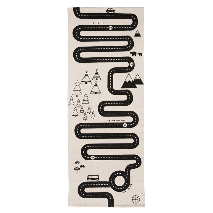 Adventure Spielteppich 180 x 70 cm von OYOY in schwarz / weiß