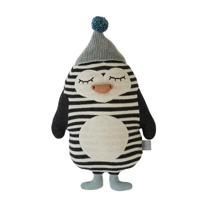 Strick-Kuscheltier Baby Pinguin Bob von OYOY