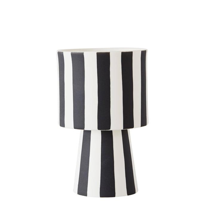 Toppu Übertopf Ø 10 x H 15 cm von OYOY in schwarz / weiß