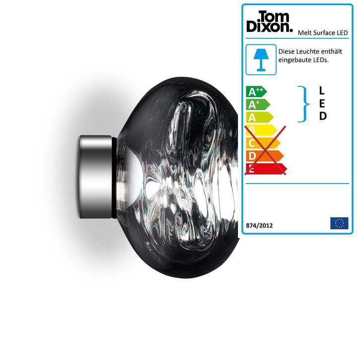 Melt Mini Surface LED-Deckenleuchte von Tom Dixon in Chrom