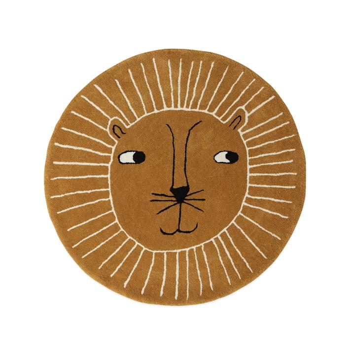 Kinderteppich Löwe Ø 95 cm von OYOY