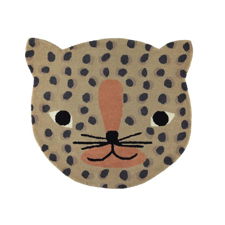 Kinderteppich Leopard 84 x 94 cm von OYOY