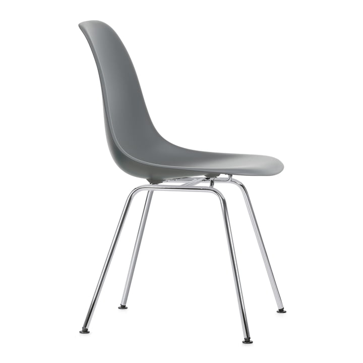 Eames Plastic Side Chair DSX von Vitra in verchromt / granitgrau