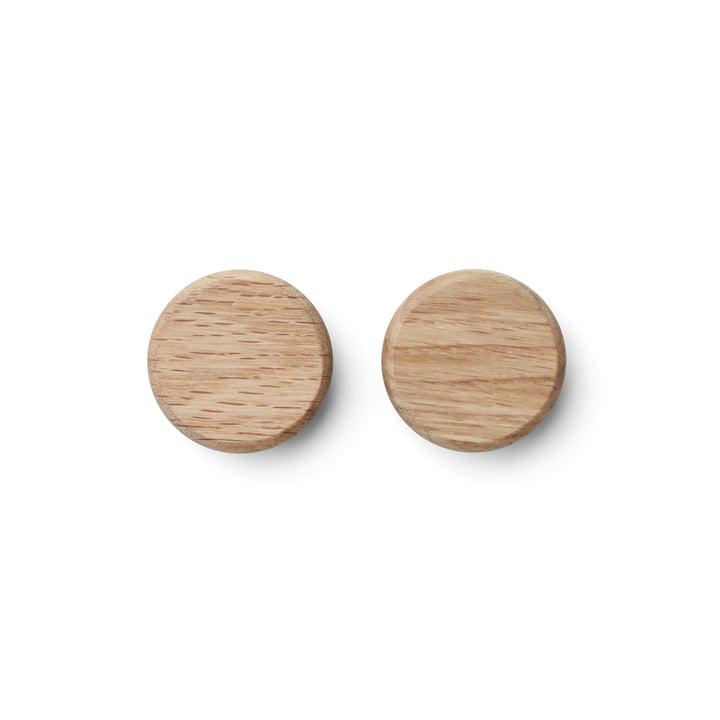 Flex Button-Magnet in Eiche (2er-Set) von Gejst