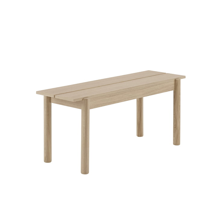 Linear Wood Bank 110 x 34 cm in Eiche von Muuto