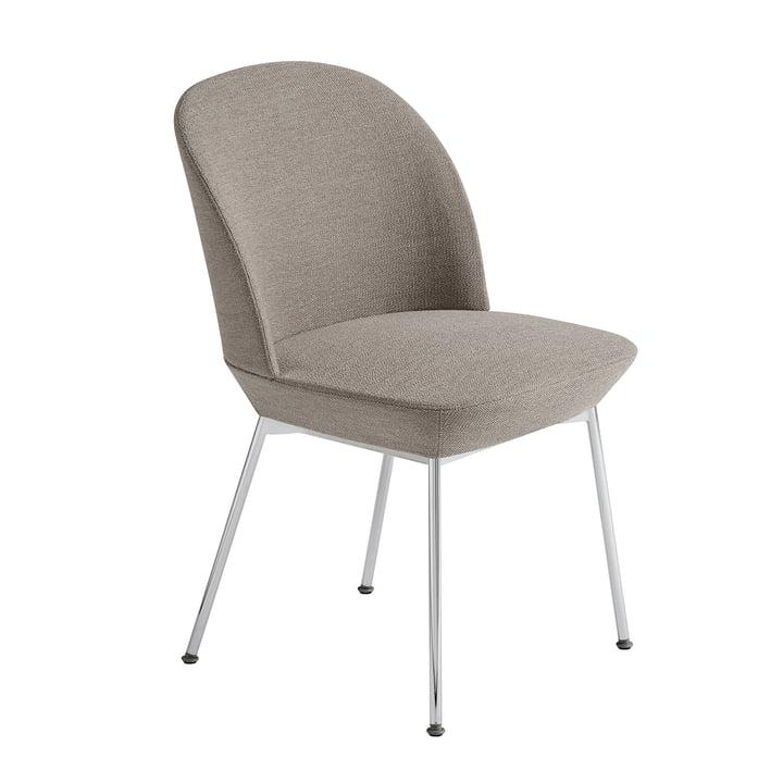 Oslo Side Chair in Chrom / grau (Ocean 32) von Muuto