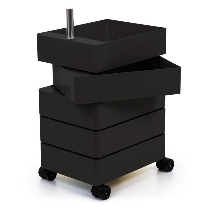 360° Container 5 Fächer in schwarz von Magis