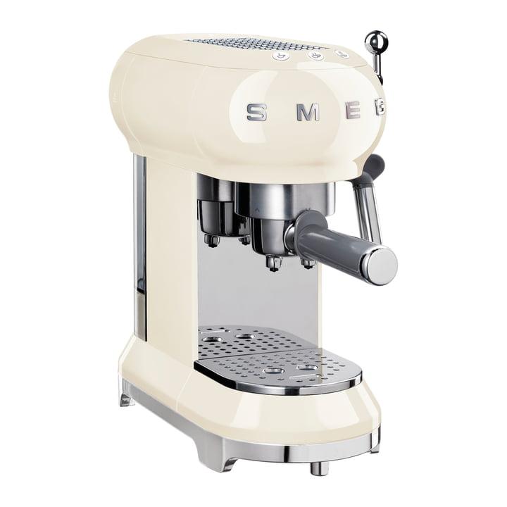 Espresso Kaffeemaschine mit Siebträger ECF01 in creme von Smeg