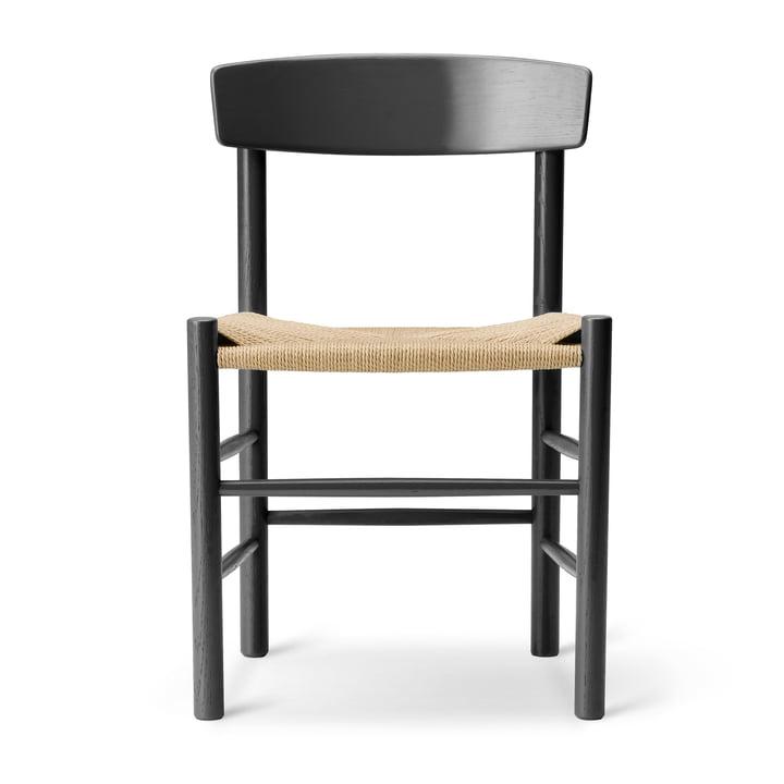 J39 Mogensen Stuhl in Eiche schwarz lackiert / Schnurgeflecht Natur von Fredericia