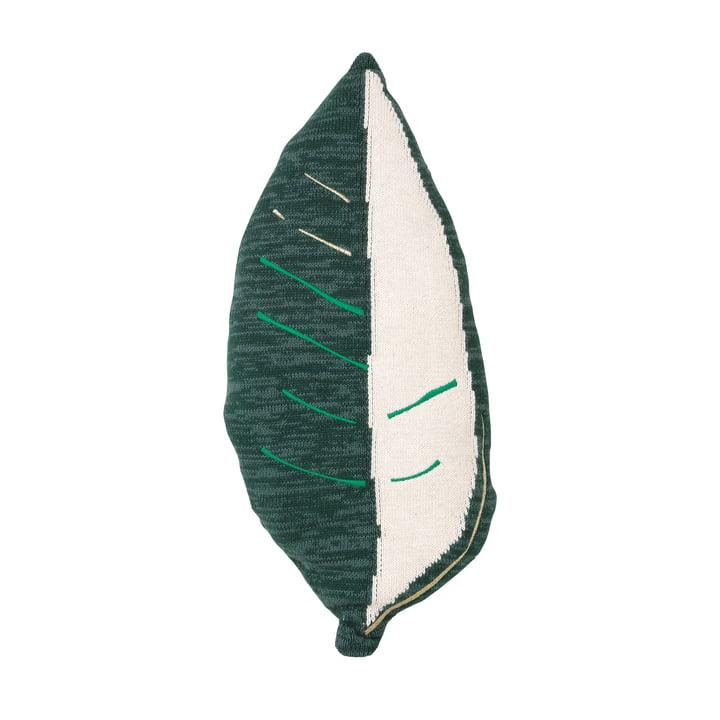 Fruiticana Kissen Bananenblatt, weiß / grün von ferm Living