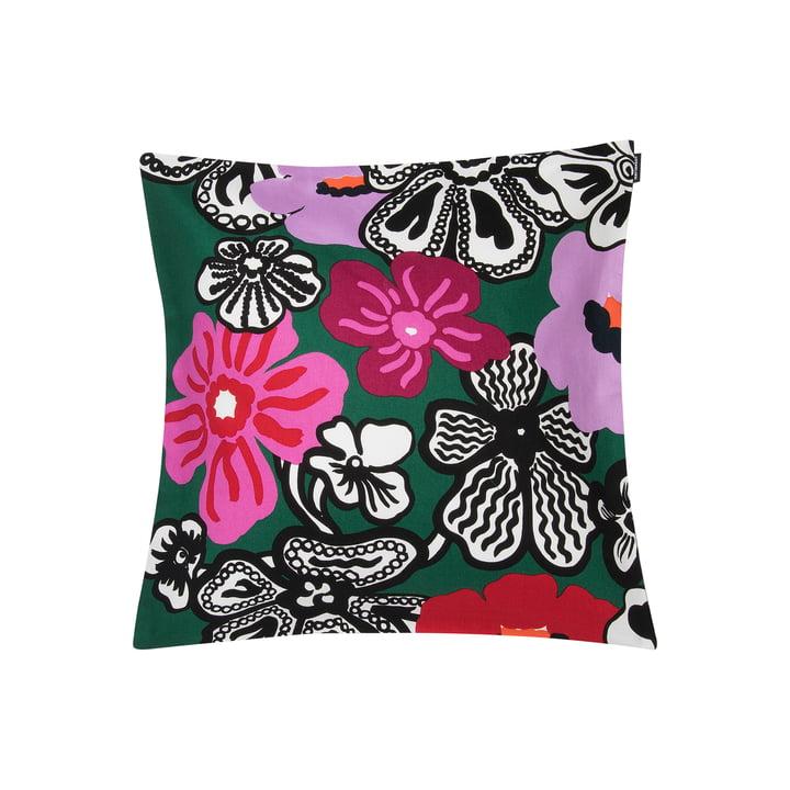 Kaukokaipuu Kissenbezug 45 x 45 cm von Marimekko in grün / violett / rot