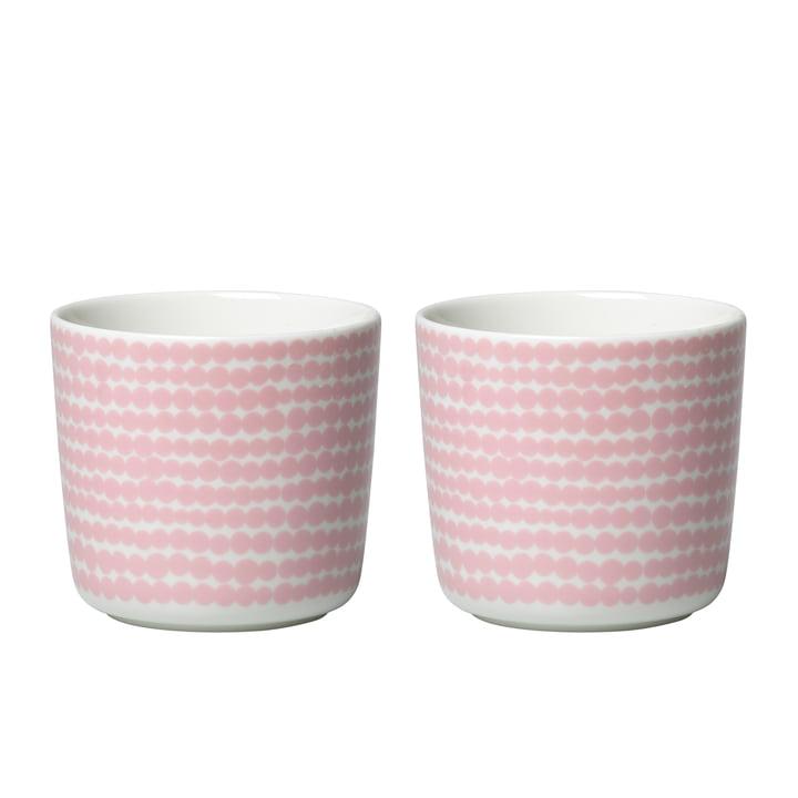 Oiva Siirtolapuutarha Becher (2er-Set) 200 ml von Marimekko in weiß / rosa