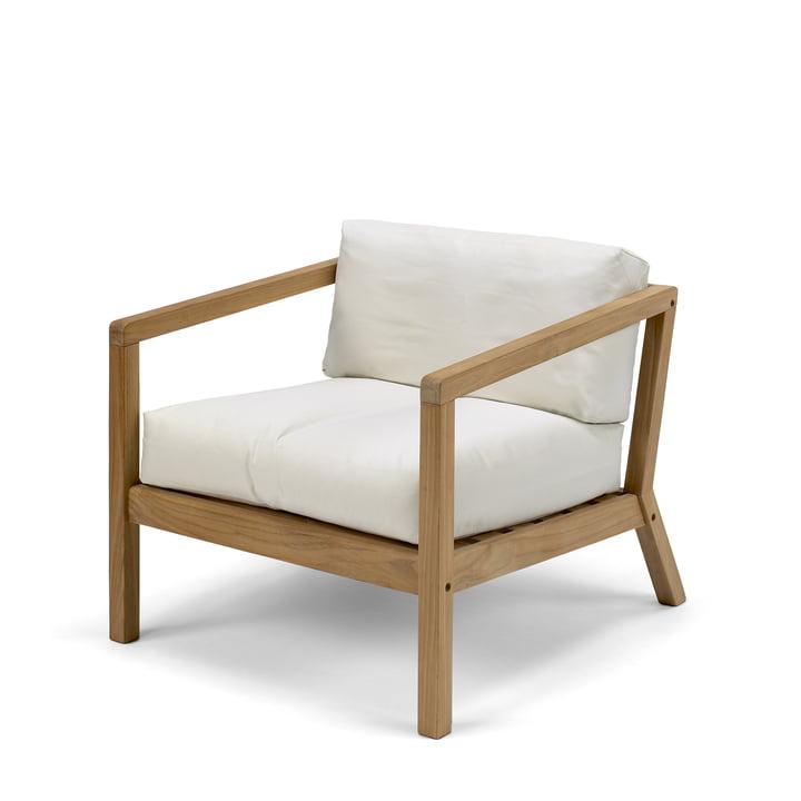Virkelyst Sessel von Skagerak in Teak / weiß