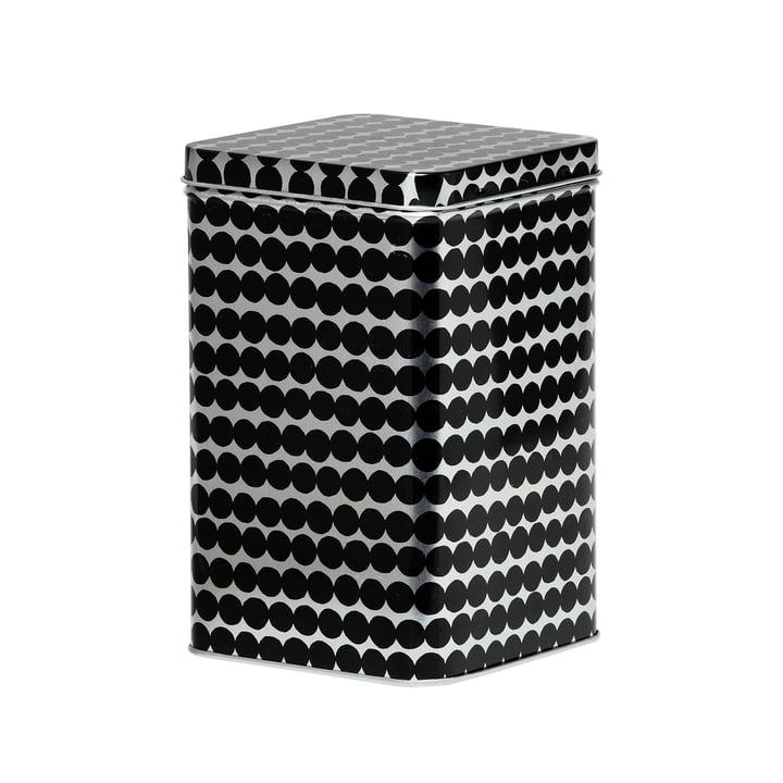Räsymatto Aufbewahrungsdose H 17,5 cm von Marimekko in schwarz / grau
