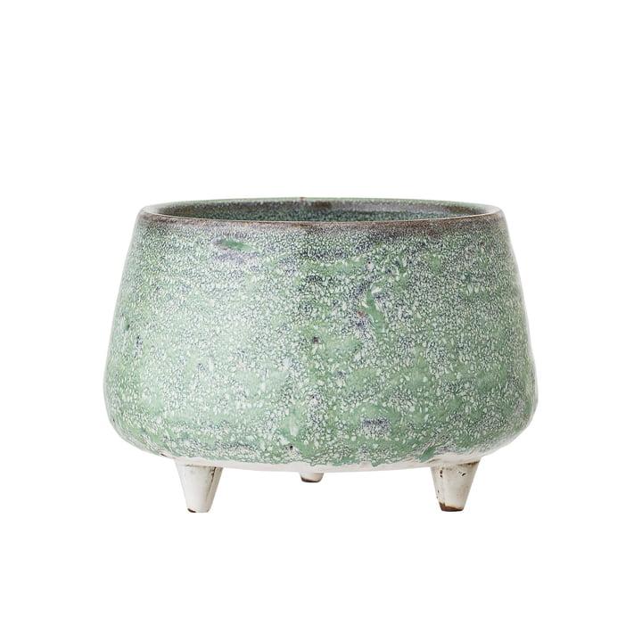 Steingut Übertopf mit Füßen Ø 14 x H 9,5 cm von Bloomingville in grün