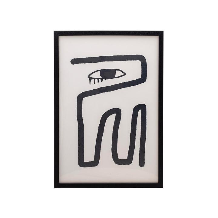 Gerahmtes Poster 45 x 65 cm von Bloomingville schwarz / weiß