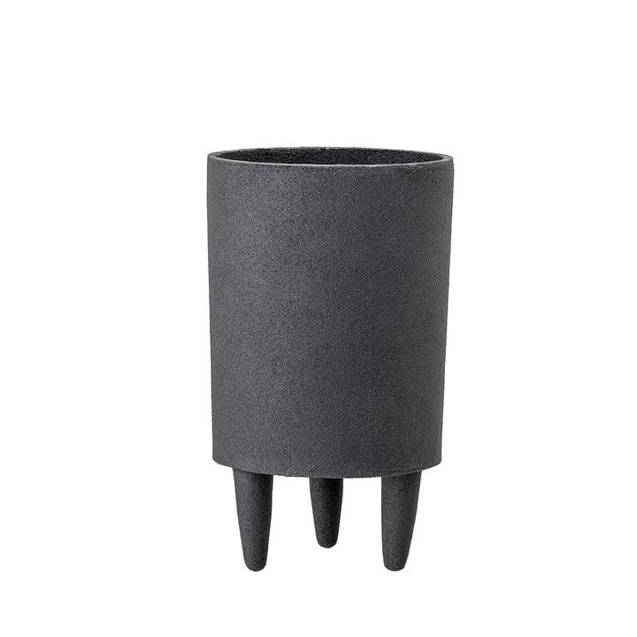 Aluminium-Pflanztopf mit Füßen Ø 10 x H 18 cm von Bloomingville in schwarz