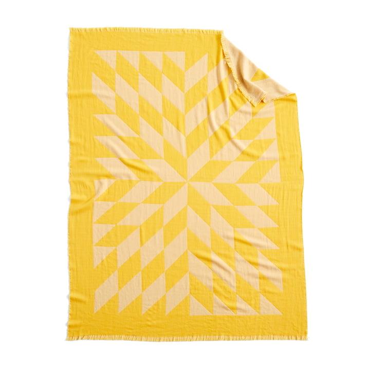 Star Wolldecke, 180 x 130 cm in gelb von Hay