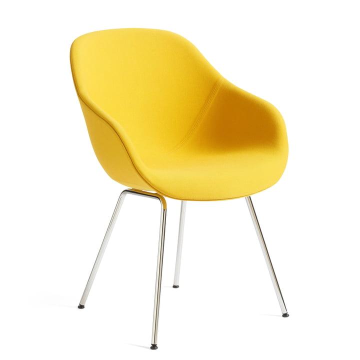 About A Chair AAC 127, Chrom / Steelcut Trio 446 gelb von Hay