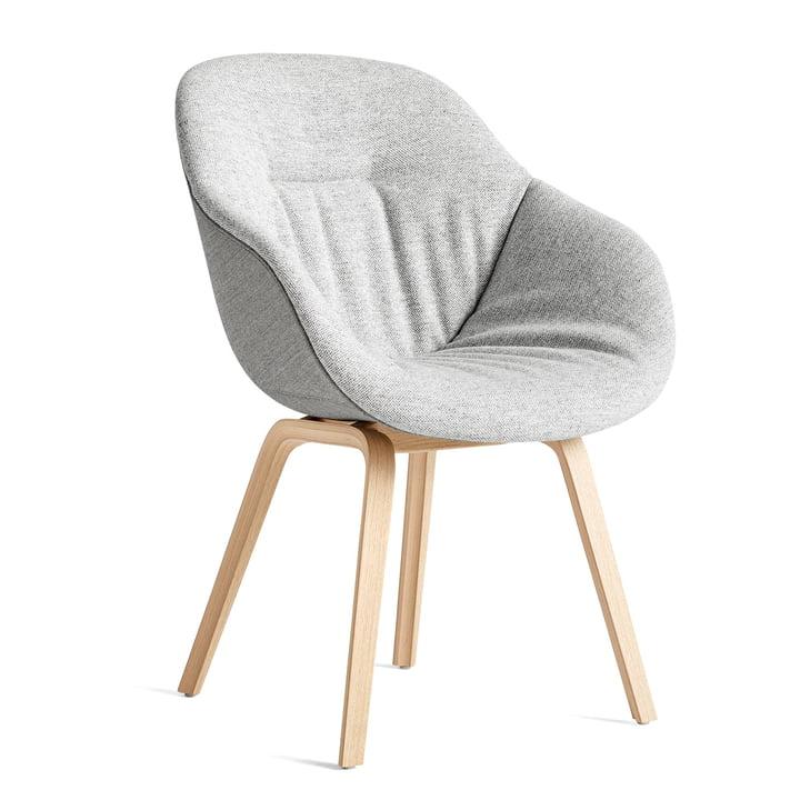 About A Chair AAC 123 Soft Duo, Eiche matt lackiert / Innenpolster Hallingdal 116 / Rückseite Remix 133 von Hay