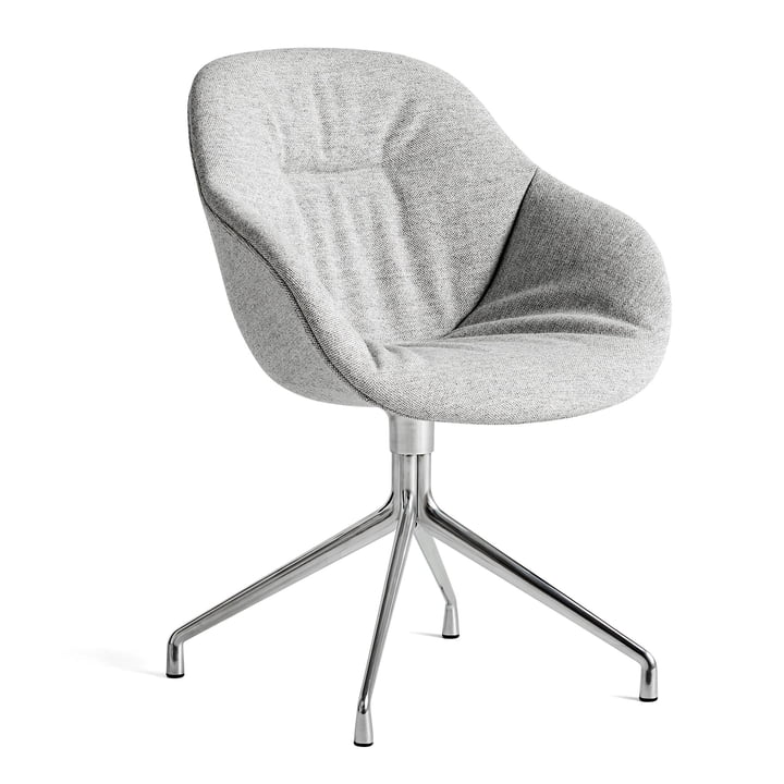 About A Chair AAC 121 Soft, Aluminium poliert / Hallingdal 116 von Hay