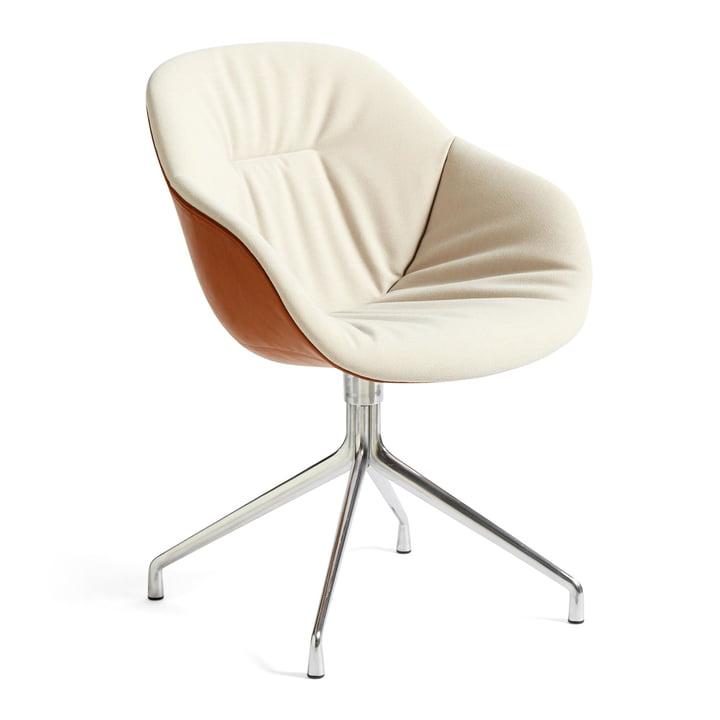 About A Chair AAC 121 Soft Duo, Aluminium poliert / Steelcut Trio 226 / Silk SIL0229 von Hay