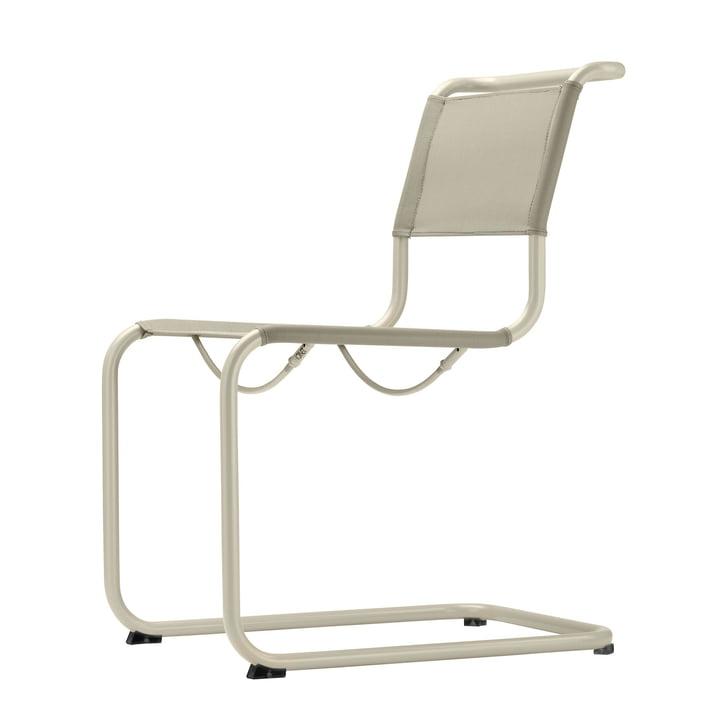 S 33 N All Seasons Stuhl von Thonet mit Gestell warmgrau (TS 3005) / Gewebe natur