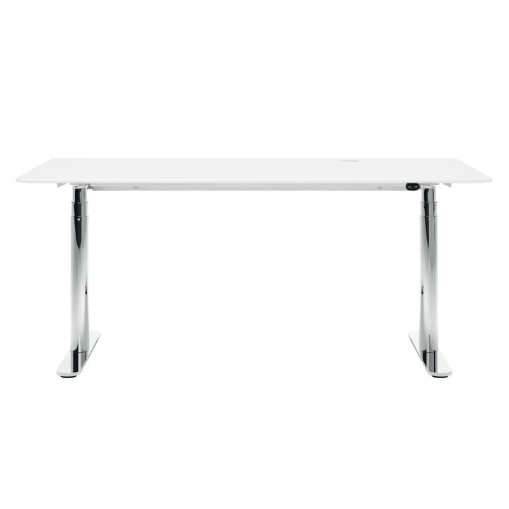 HiLow 2, höhenverstellbarer Schreibtisch, 160 x 80 cm, Chrom / snow von Montana